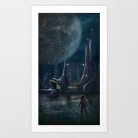 Night Outpost Art Print