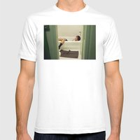 Caleb. Mens Fitted Tee White SMALL