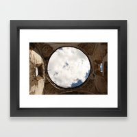 Antigua, Guatemala. Collapsed Cathedral. Framed Art Print