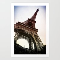 eiffel Art Prints featuring Eiffel  by Electric Avenue