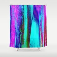 Ice Curtain 3 Shower Curtain