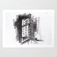Tablattturm Stuttgart - … Art Print