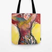 Donna Albero Con Capelli… Tote Bag