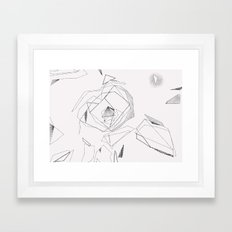 Camellia - white Framed Art Print