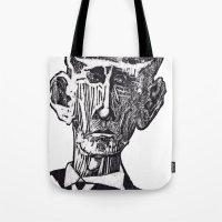 Old man woodblock Tote Bag
