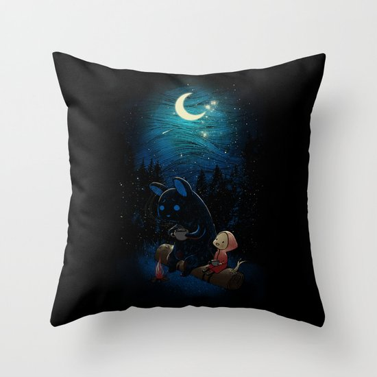 Camping 2 Throw Pillow