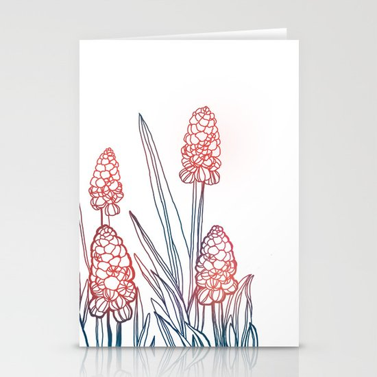 Hyacinths Stationery Card