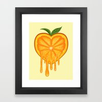 Love Orange Framed Art Print