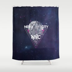 New York City V [pink] Shower Curtain
