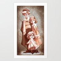 Sepia Snow Art Print