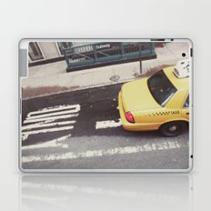 one way taxi:: nyc Laptop & iPad Skin