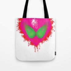 lovebomb-iiis - élan vital ephemeral - in_destruction creation! (blood splatter v) Tote Bag