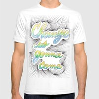 Change Is Gonna Come Mens Fitted Tee White SMALL