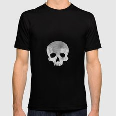 skull Moon Black Mens Fitted Tee SMALL