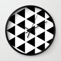 Sleyer Black on White Pattern Wall Clock