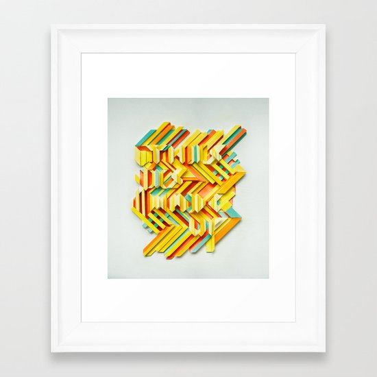 This Is Made Up #3 Framed Art Print