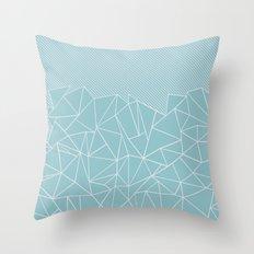 Ab Lines 45 Sea Throw Pillow