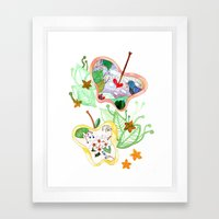From apple land Framed Art Print