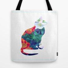 Flowered Cat Tote Bag