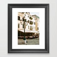 VENICE VII - STREET LIGHT Framed Art Print