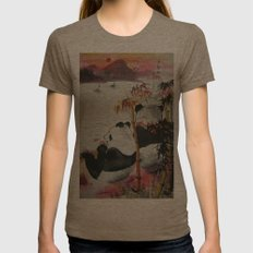 romantic evening Womens Fitted Tee Tri-Coffee SMALL