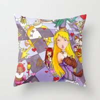 Alice In A Mad Mad World Throw Pillow