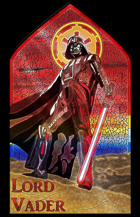 STAR WARS Stained Glass Lord Vader Art Print