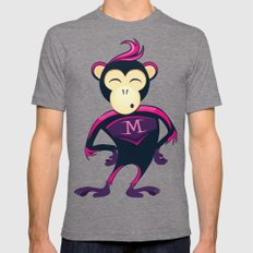 Monkey Mens Fitted Tee Tri-Grey SMALL