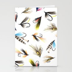 Classic Salmon Fishing Flies Stationery Cards