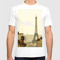 paris, bitches! Mens Fitted Tee White SMALL