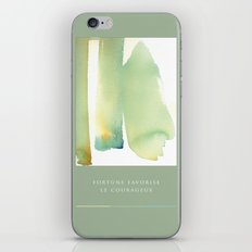 fortune favorise  le courageux iPhone & iPod Skin