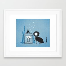 We can be friends Framed Art Print