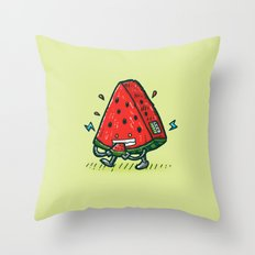 Watermelon Bot Throw Pillow