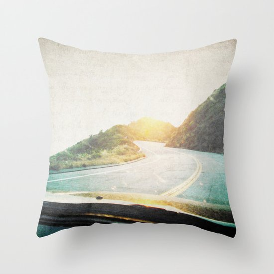 Letters From the Road 2 Throw Pillow