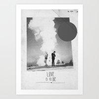 Love Is To Die | Collage Art Print