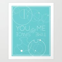 You and me, time and space | Quote and circular Gallifreyan Art Print