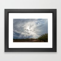 The Kiss After The Storm Framed Art Print