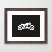 Triumph Bonneville - Cafe Racer series #3 Framed Art Print