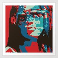 Portrait in Red Art Print