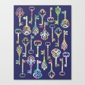 Rainbow Keys Canvas Print