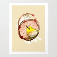 Spring Birdy / Nr. 1 Art Print