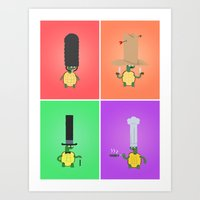 Turtles! Art Print