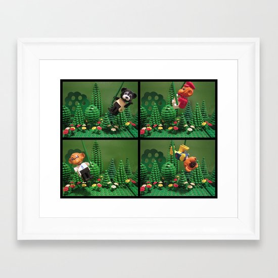 we love the jungle Framed Art Print