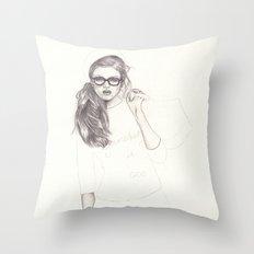 No.6 Fashion Illustration Series Throw Pillow