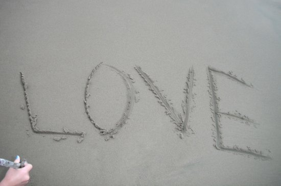 Love letters in the sand Art Print