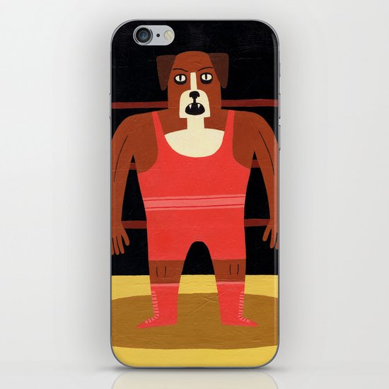 Dog Wrestler iPhone & iPod Skin