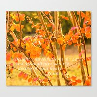Delight Yourself in the Lord Canvas Print
