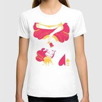 Dame de cœur Womens Fitted Tee White SMALL