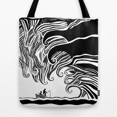 Dark Wave Tote Bag