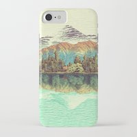 mountain iPhone & iPod Cases featuring The Unknown Hills in Kamakura by Kijiermono